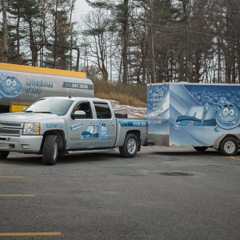 Camion Alo Pompes et traitement d'eau